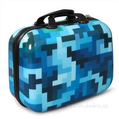 Kufr příruční větší blue tetris 37 x 17 x 30 cm