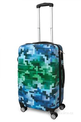 Kufr menší blue tetris 37 x 23 x 50 cm
