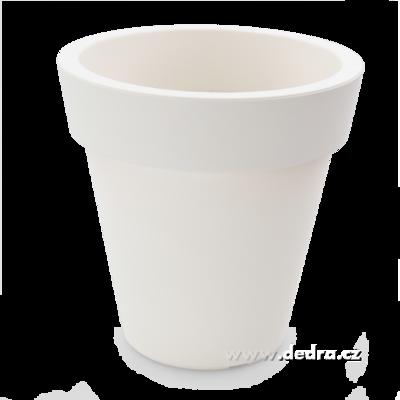 XXL Velký květináč bílý horní/dolní 30/16,5 výška 30 cm