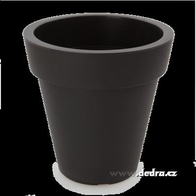 XXL Velký květináč černý horní/dolní 30/16,5 výška 30 cm