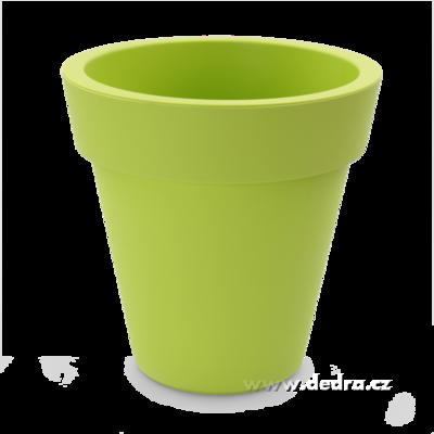 XXL Velký květináč jasně zelený horní/dolní 30/16,5 výška 30 cm