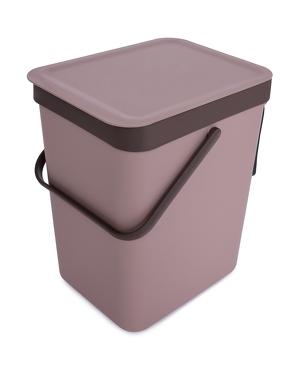 Závěsný odpadkový koš 16 L s odklápěcím víkem a uchem kávový 16 L