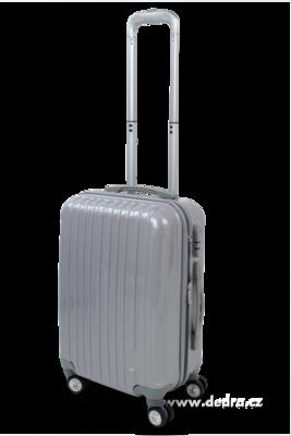 Skořepinový kufr,50 x 37 x 23 cm silver