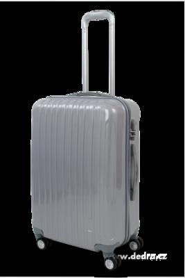 Skořepinový střední kufr,60 x 44 x 26 cm silver