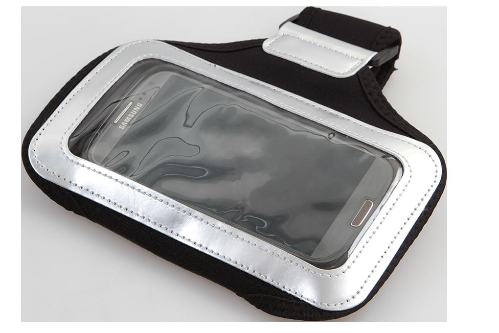 Sportovní pouzdro na paži pro mobilní telefony, černé