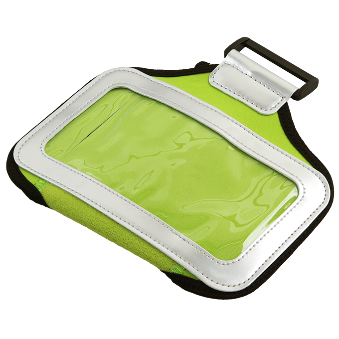 Sportovní pouzdro na paži pro mobilní telefony, zelené