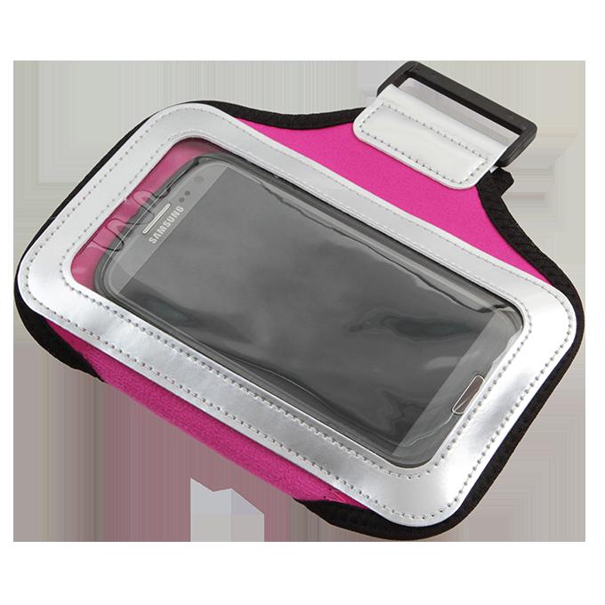 Sportovní pouzdro na paži pro mobilní telefony, růžové