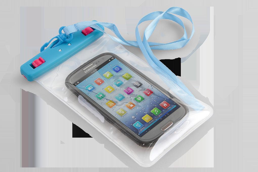 Ochranné pouzdro na mobil a osobní věci, modré