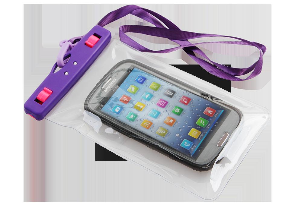 Ochranné pouzdro na mobil a osobní věci, fialové