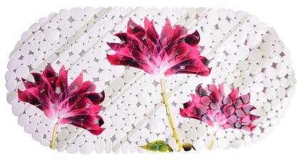 Protiskluzová podložka do vany flowers