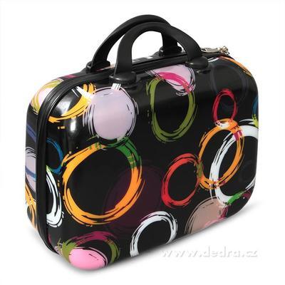 Kufr příruční větší colored circles 37 x 17 x 30 cm
