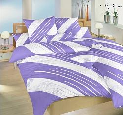 Povlečení bavlna 140x200,70x90 Globus fialový