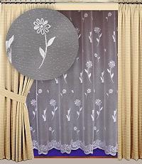 Záclona Anet výška 140 cm bílá