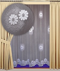Záclona Claudie výška 210 cm bílá