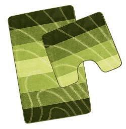 Koupelnová sada předložek Elli 60x100, 60x50 cm zelená vlna
