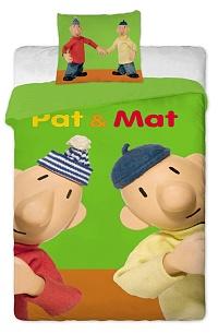 Povlečení bavlna - Pat a Mat zelený 140x200,70x90 cm