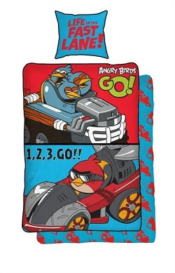 Povlečení bavlna - Angry Birds GO 140x200,70x90 cm
