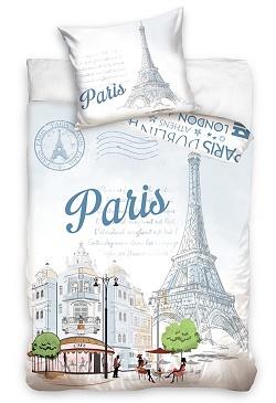 Povlečení Paříž Eiffelova věž 70x90, 140x200 cm