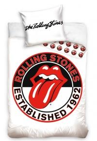 Povlečení Rolling Stones White 70x90,140x200 cm