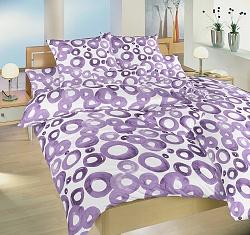 Povlečení krepové 140x200,70x90 cm Akvarel fialový
