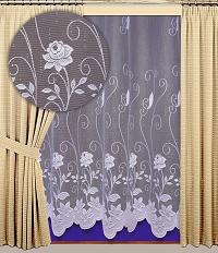 Záclona Nela výška 160 cm bílá