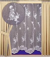 Záclona kusová Edita výška 240cm, délka 400cm bílá