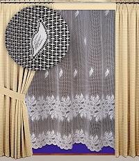 Záclona Zora výška 210 cm bílá
