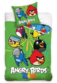 Povlečení bavlna - Angry birds mix 140x200,70x80 cm