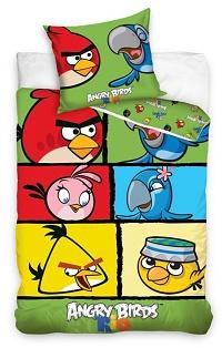 Povlečení bavlna - Angry birds Check 140x200,70x80 cm