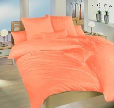 Povlečení krepové 140x200,70x90 cm světle oranžové