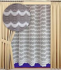 Záclona Vlnky výška 210 cm bílá