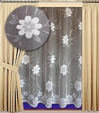 Záclona Diana výška 210 cm bílá