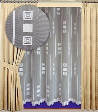 Záclona Petra výška 210 cm bílá
