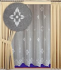 Záclona Jorga výška 210 cm bílá