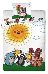 Povlečení bavlna do postýlky - Krteček a kamarádi 90x130 + 40x60 cm