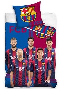 Povlečení FC Barcelona Team 2015 70x80,140x200 cm
