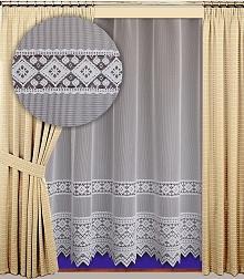 Záclona Sandra výška 210 cm bílá