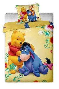 Povlečení Disney - Medvídek Pů 140x200,70x90 cm