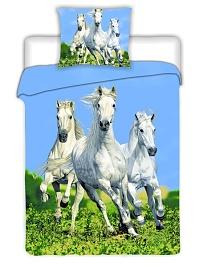 Povlečení Koně bílé 140x200,70x90 cm