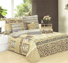 Povlečení bavlněné na 2 postele 4 dílné safari