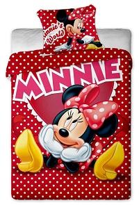 Povlečení Disney - Minnie hearts 140x200,70x90 cm