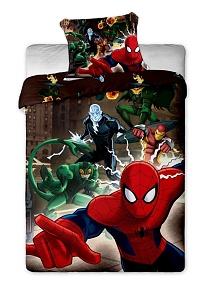 Povlečení Spiderman brown 140x200,70x90 cm