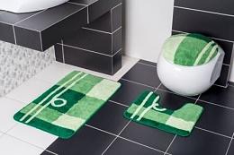Koupelnová sada předložek 50x80+50x40+46x48cm zelená