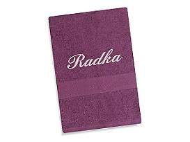 Ručník se jménem - fialová 50x100 cm fialová