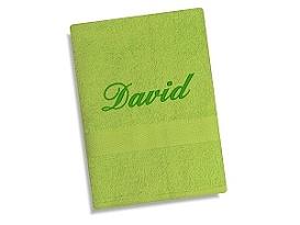 Ručník se jménem - zelená 50x100 cm zelená