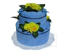 Textilní dort 2P-4 2patrový (1os.+1ruč.) modrý