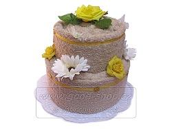 Textilní dort 2P-2 2patrový (1os.+1ruč.) béžový