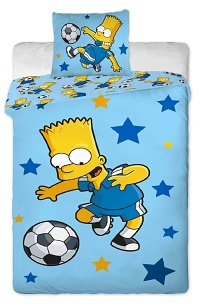 Povlečení Simpsons - Bárt blue 140x200,70x90 cm