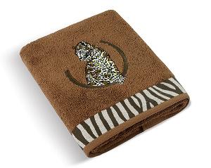 Froté ručník Leopard 50x100 cm hnědá
