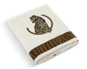 Froté ručník Leopard 50x100 cm krémová
